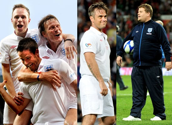 Pictures of Soccer Aid 2010 Match Robbie Williams, James Corden, Olly, Michael Sheen, Gordon Ramsay, Mike Myers, Woody Harrelson