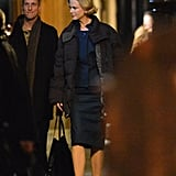 Nicole Kidman filmed a night scene.