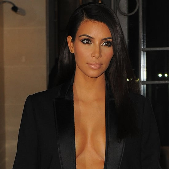 Kim Kardashian's Black Blazer at Paris Fashion Week