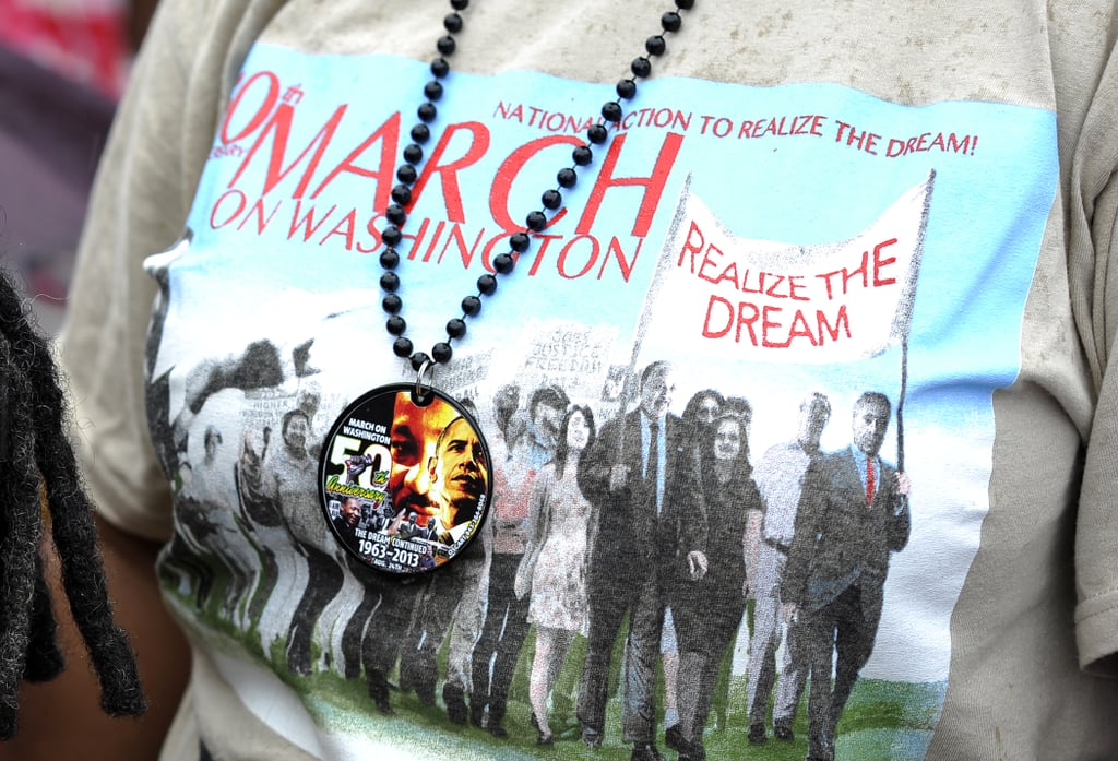 Participants wore t-shirts and necklaces to honor Dr. Martin Luther King Jr.