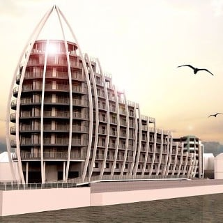 Apartments Resembling Dubai's Burj Al Arab in Plymouth, UK