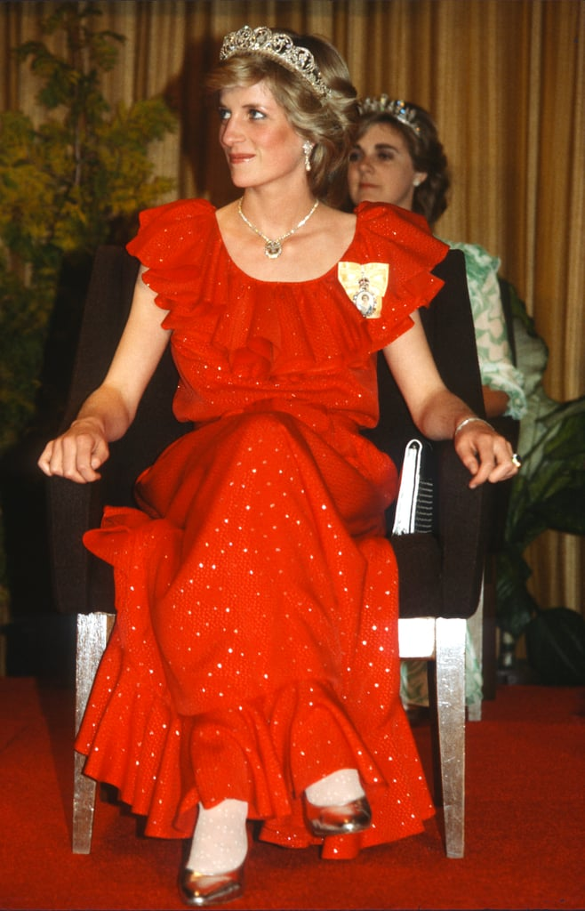 Princess Diana's Red Bruce Oldfield Dress