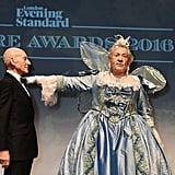 Ian McKellen and Patrick Stewart at Evening Standard Theatre