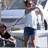 Britney Spears played a round of golf.