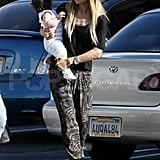 Rachel Zoe went to lunch with son Skyler.