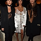 Kourtney Kardashian, Kim Kardashian, and Kris Jenner