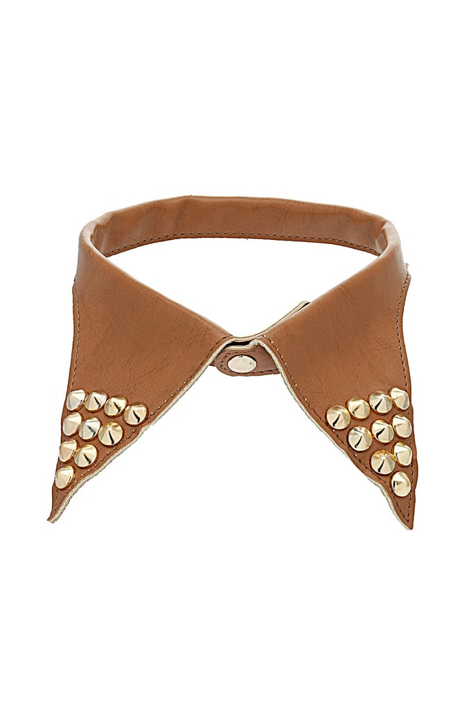 The gold studs will add instant edge to a white button-up. Topshop Leather Stud Collar ($40)
