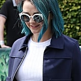 Maisie Williams With Blue Hair | July 2016