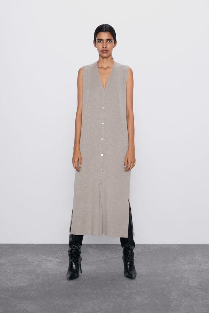 Zara Buttoned Wool Vest