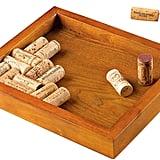 Wine Enthusiast Wine Cork Mahogany Trivet Kit