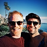 Jesse Tyler Ferguson and husband Justin Mikita spent the afternoon at the beach.