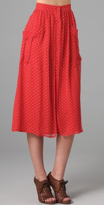 We're swooning over this sweet, work-friendly Rebecca Taylor Pin Dot Skirt ($350).