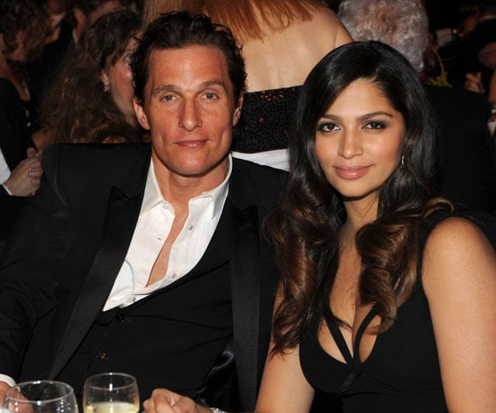Slide Photo of Matthew McConaughey and Camila Alves at Tribute to Neil Young