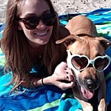 Lauren Conrad and Chloe sported fancy shades while lounging at the beach.  Source: Twitter user laurenconrad