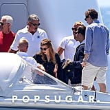 Shirtless Ashton and Mila Join Princess Beatrice and Dave Clark's Yacht Vacation