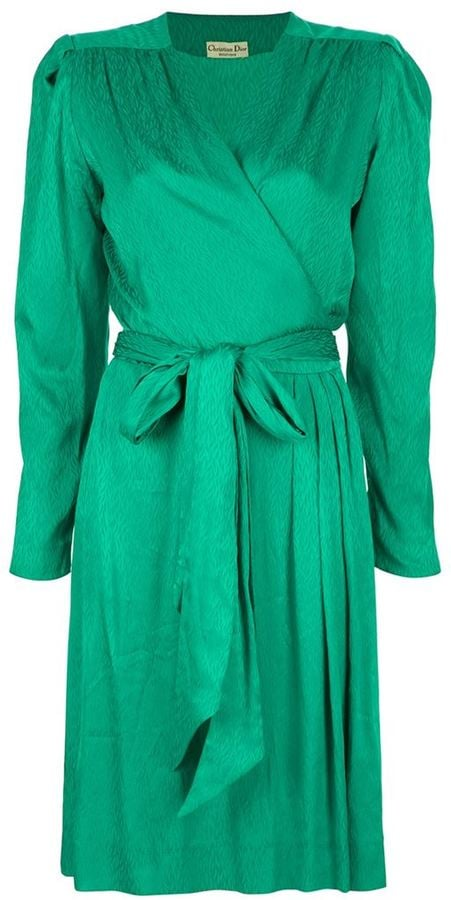 Christian Dior Vintage Wrap Style Dress