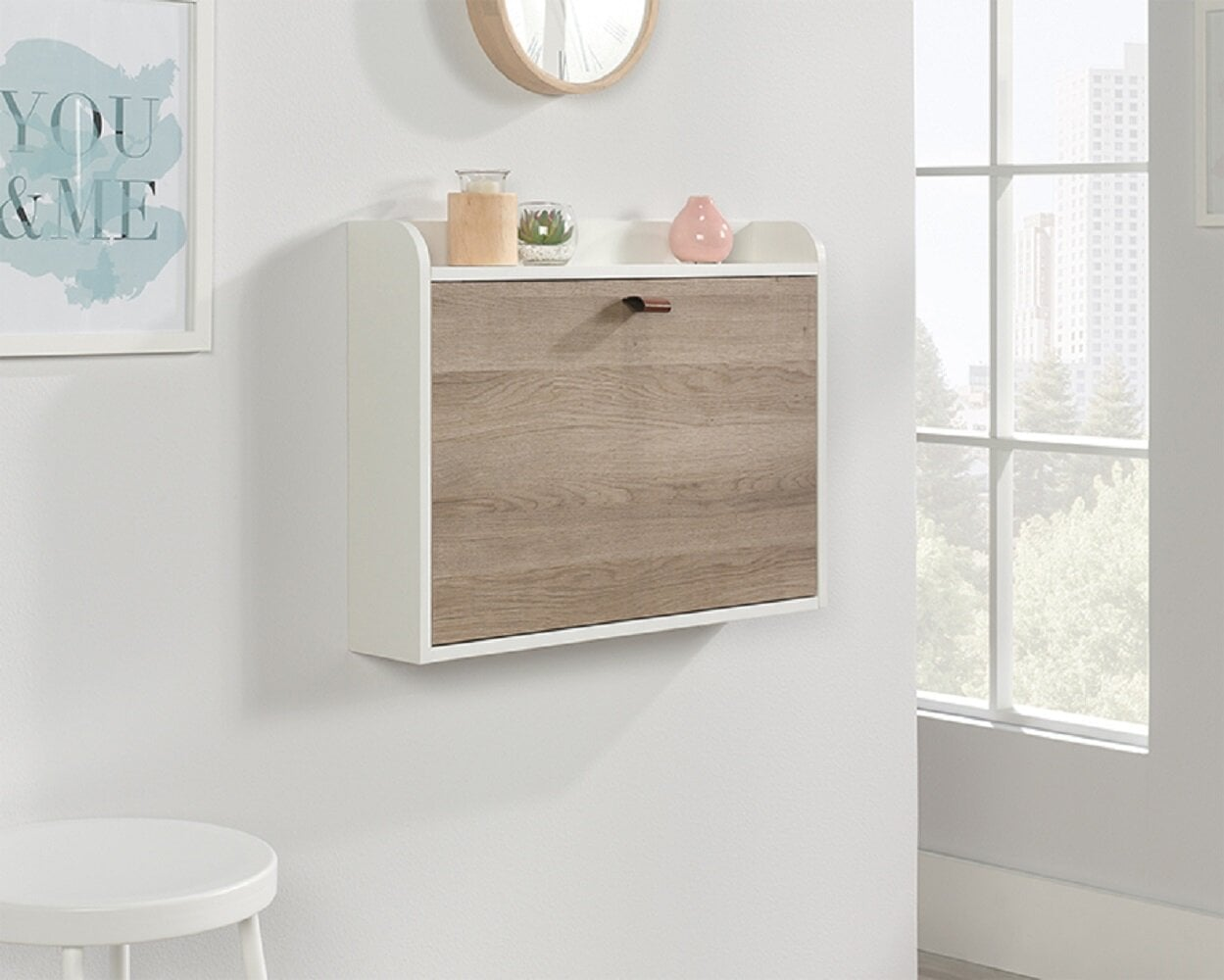 Latitude Run Trente Wall Floating Desk