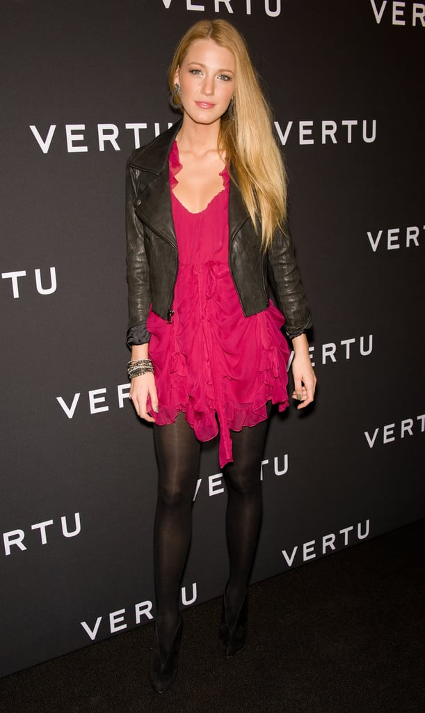 Wearing a Dior dress, Christian Louboutin shoes, and Lorraine Schwartz jewels to the 2010 Vertu Smartphone Launch.