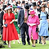 Princess Eugenie and Princess Beatrice accompanied their grandmother to an official event.