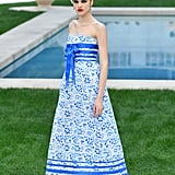 This Blue and White Midi Is Perfect For a Mediterranean Getaway