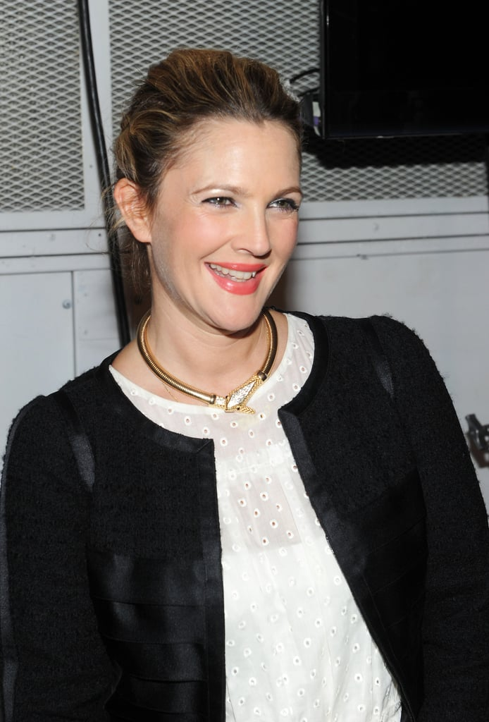 Drew Barrymore at Marc Jacobs Spring 2014.