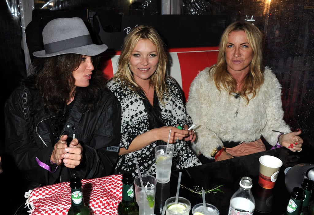 Pictures of Kate Moss Celebrating Her Bachelorette Party at the Isle of Wight Festival