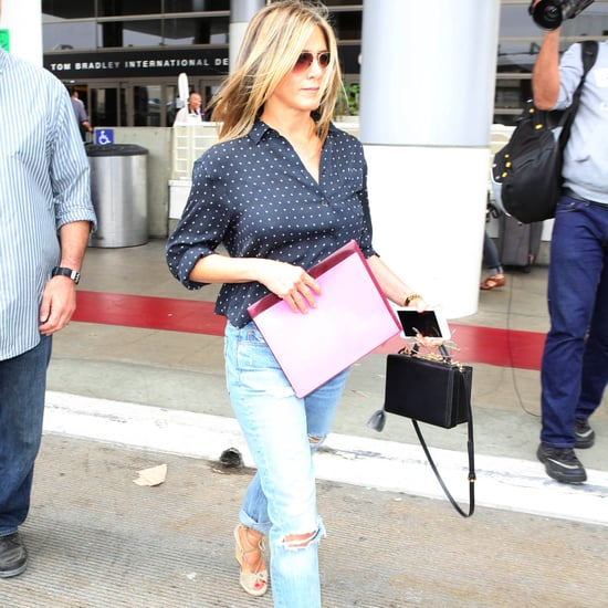 Jennifer Aniston Wedges at the Airport