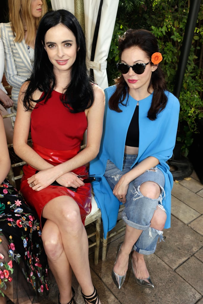 Krysten Ritter opted for neutral makeup and a glossy blowout, while Rose McGowan tapped into her inner pinup girl.