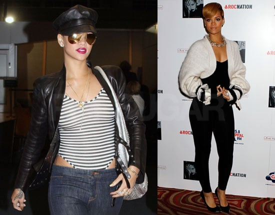 Photos of Rihanna Leaving NYC And Arriving in London to Promote Her New UK Tour