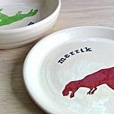 Personalized Ceramic Dinosaur Plate ($35)