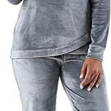 Sleepyheads Velvet Velour Hooded Loungewear Pajama Set