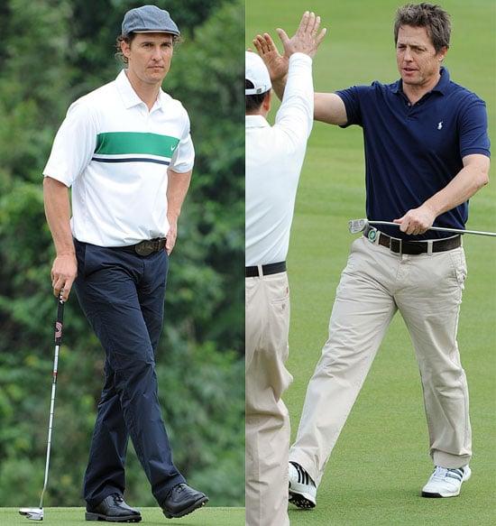 Matthew McConaughey and Hugh Grant Playing Golf in China