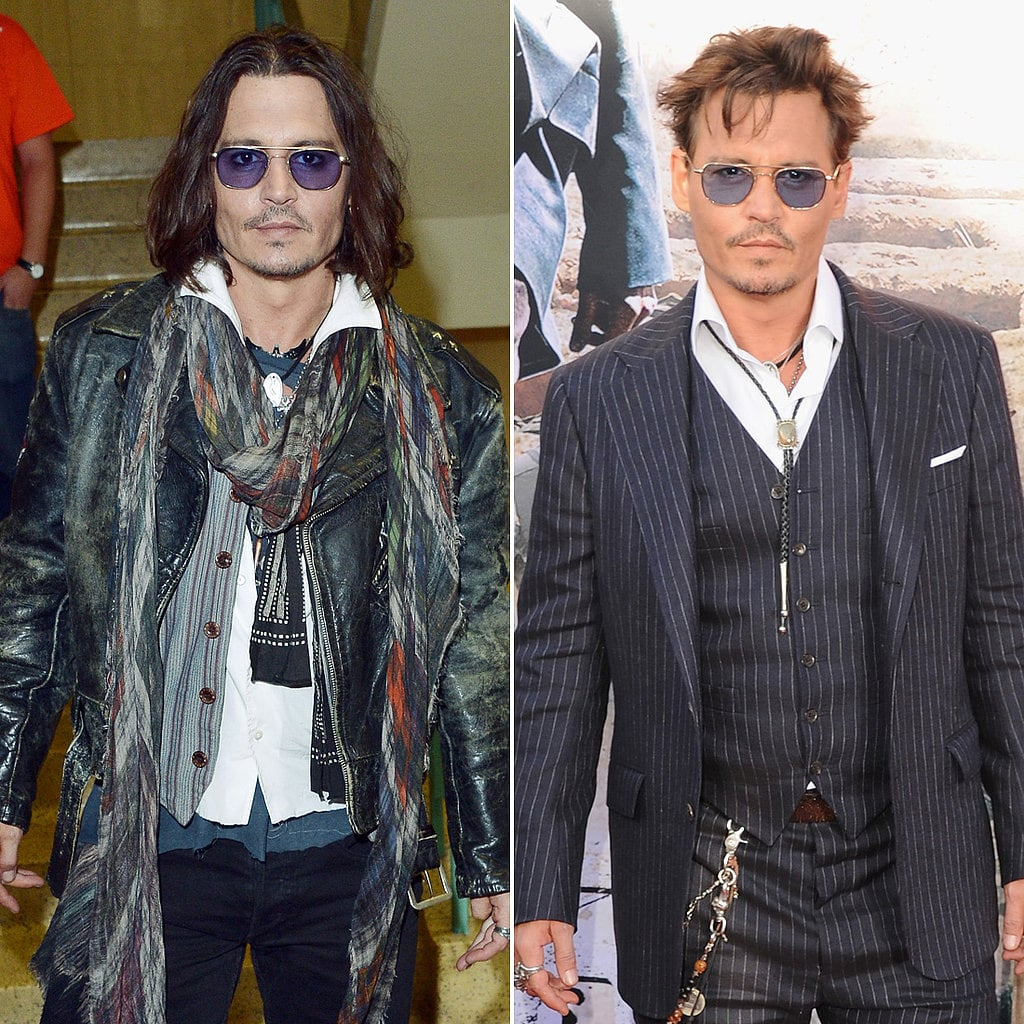 Famous Men Celebrities With Short And Long Hair Popsugar Celebrity