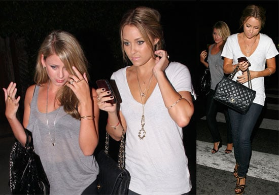 Photos of Lauren Conrad and Lo Bosworth at Crown Bar; Lauren Is Guest Starring on Privileged in the Fall