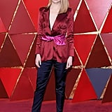 Emma Stone Louis Vuitton Pantsuit at the Oscars 2018