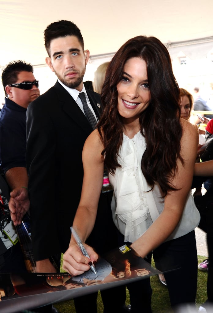 Ashley Greene signed autographs for fans in 2011.