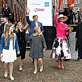 Aside From Her Patterned Skirt, Queen Máxima's Outfit Was Mostly Pink