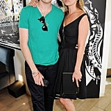 Kate Moss posed with Nick Grimshaw.