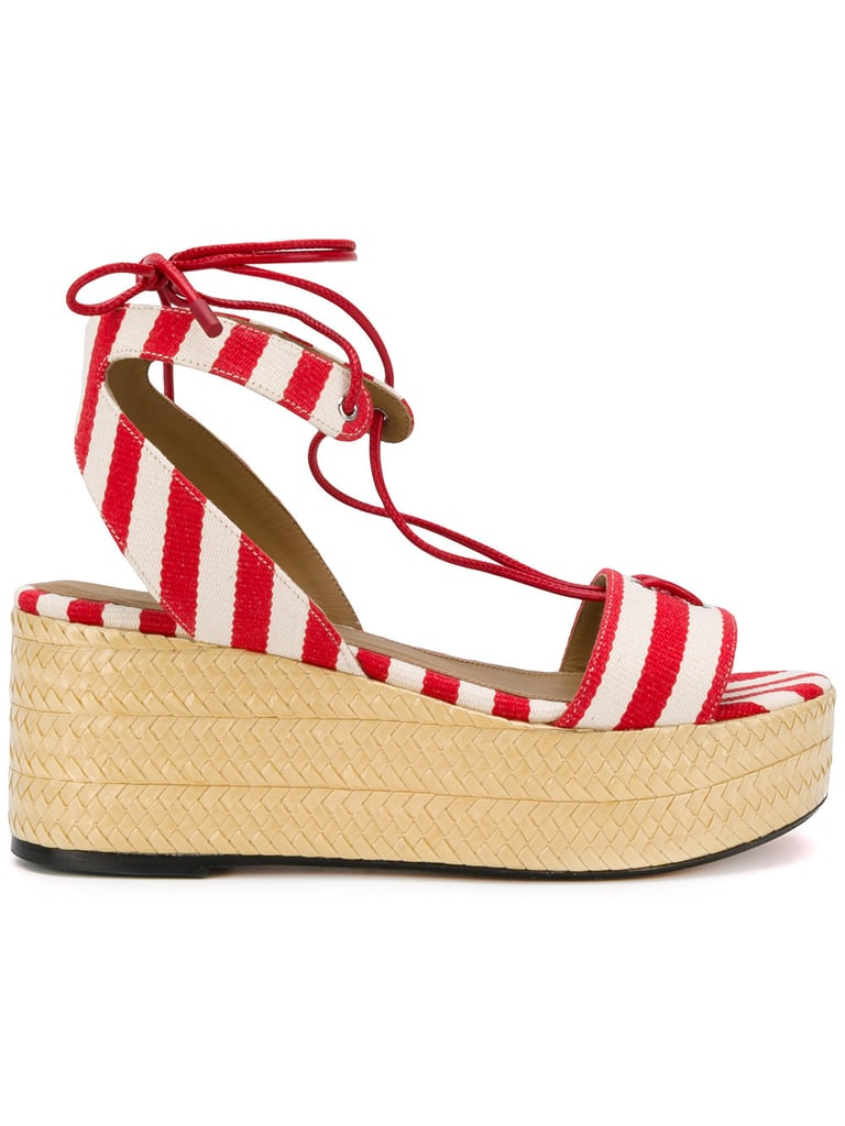 "Sonia Rykiel's Striped Platform Sandals ($450) scream ""Summer picnic."""