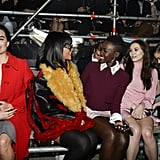 Lupita Nyong'o and Jared Leto at the Miu Miu Fall 2014 Show