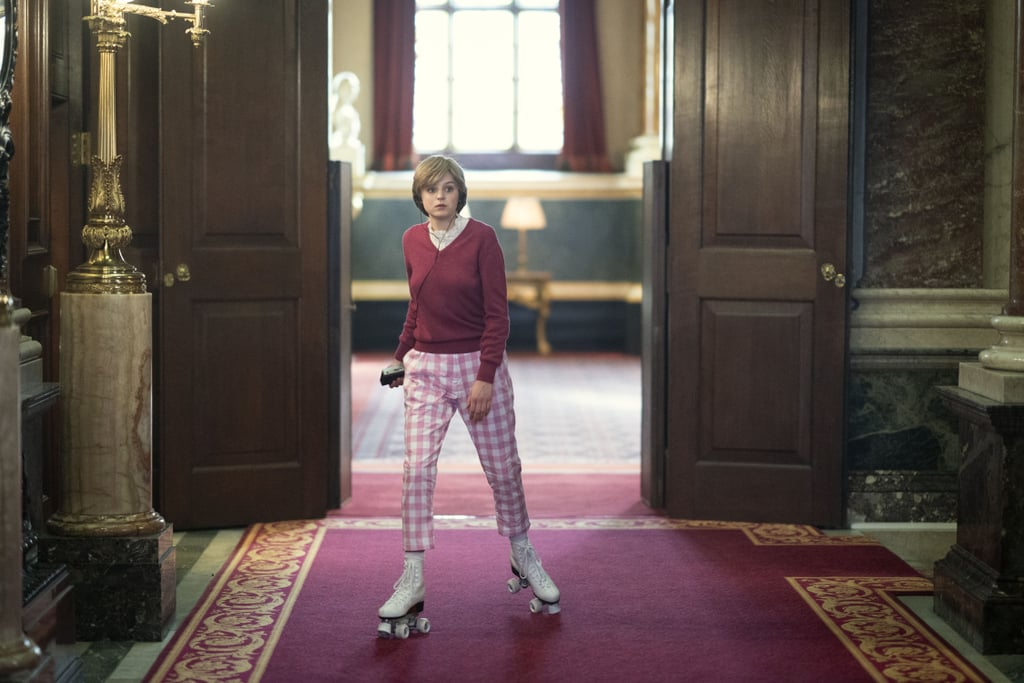 Princess Diana's Pink Sweater and Plaid Pants on The Crown