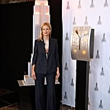 I had to call out supermodel Carolyn Murphy for her sharp navy suit. Every gal needs one that's double-breasted, slightly slouchy, and sharp.