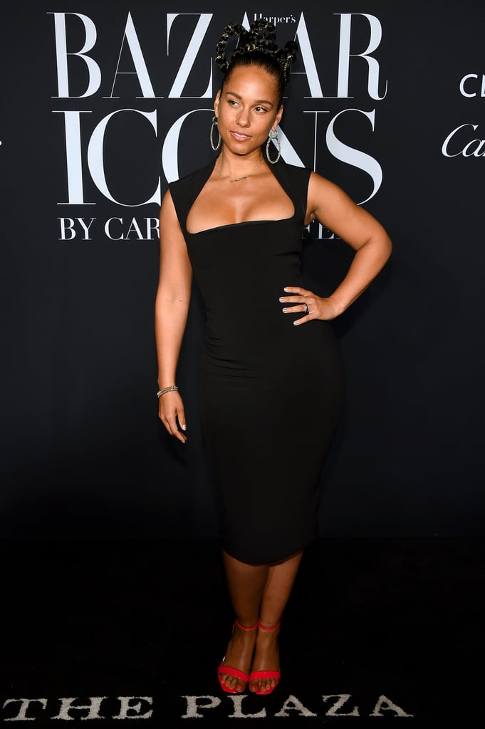 Alicia Keys at the Harper's Bazaar ICONS Party During New York Fashion Week