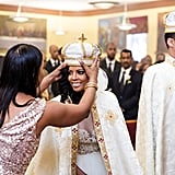 She Received Her Crown-Like Headpiece