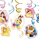 Beauty and the Beast Swirl Decorations