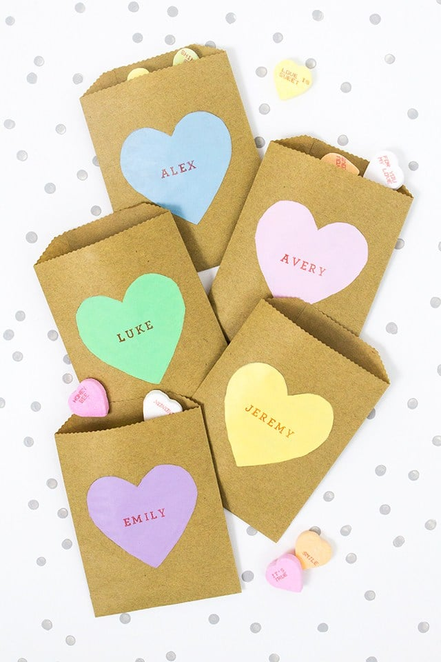 Conversation Heart Treat Bags