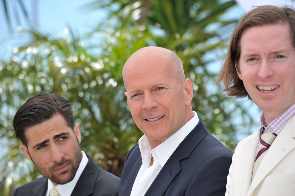 Jason Schwartzman, Bruce Willis, and Wes Anderson linked up at the Moonrise Kingdom photocall at the Cannes Film Festival.