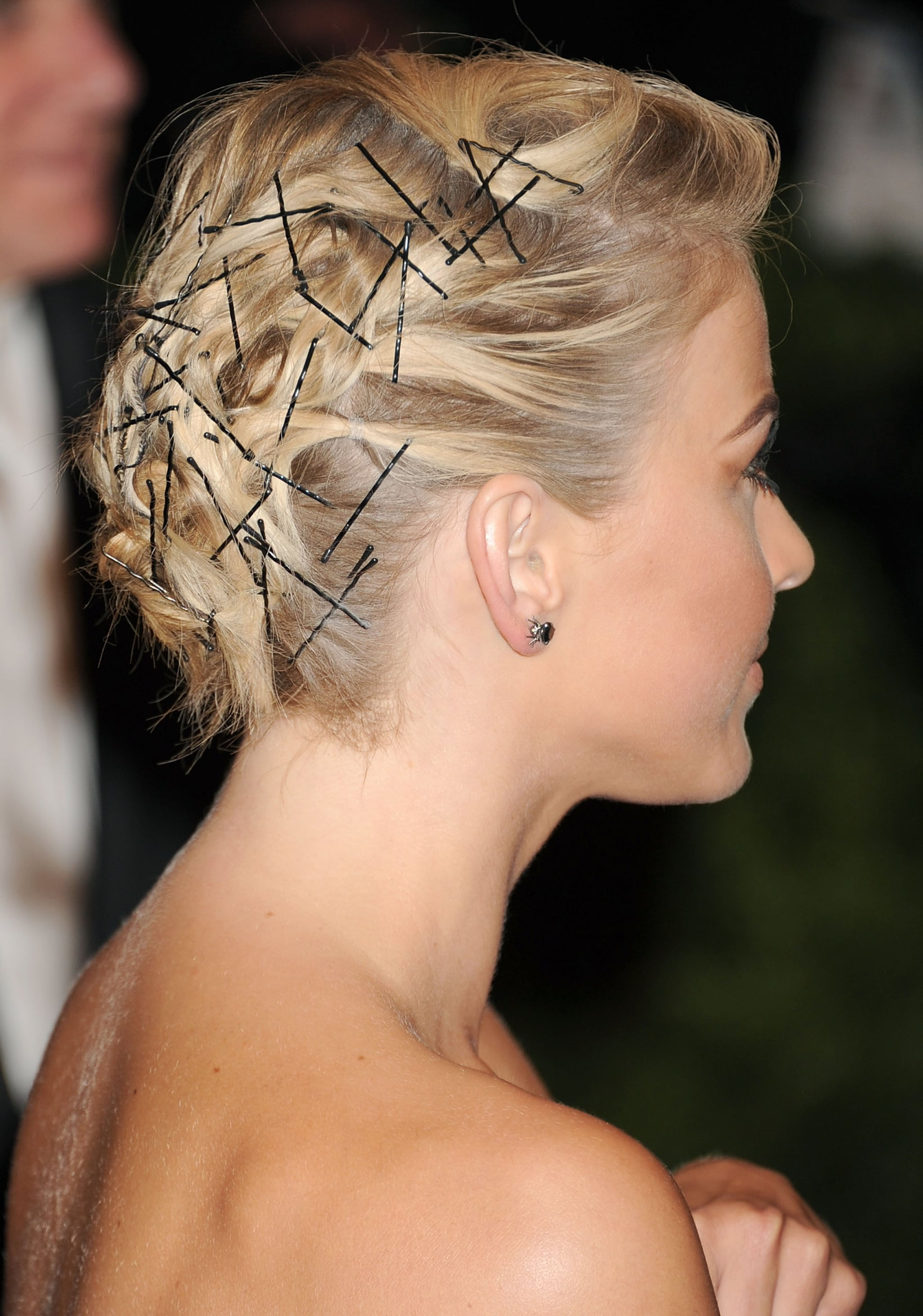 Bobby pins were the focus of Julianne Hough's Met Gala hairstyle. She wore over 100 in her updo!