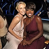 Charlize Theron and Viola Davis at the Golden Globes.