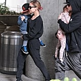 Nicole Richie, Joel Madden, Harlow Madden, and Sparrow Madden made their way through LAX.